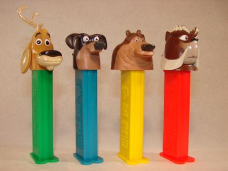 Open Season Pez, Elliot, Mr. McWeenie, Boog, & McSquizzy, x.