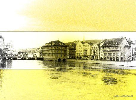 'meine Zurich Vision' von Nette  Mittelstaedt bei artflakes.com als Poster oder Kunstdruck $17.33