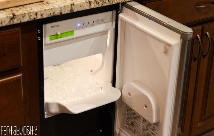 Built In, Under cabinet Ice Maker Built-In, Undercabinet Ice Machine Kitchen Home Design, Home Tour Part 4 http://fantabulosity.com
