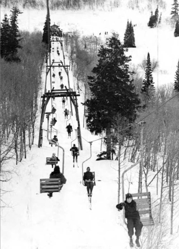 (Photo Courtesy Utah State Historical Society)  Snowbasin ski resort in the Ogden Valley, around 1930.
