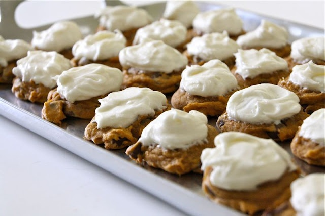 Pumpkin Chocolate Chip Cookies...I have done these and they are a sensation!!!!! Awesome Recipie
