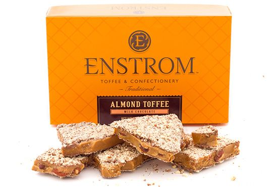 Enstrom's World Famous Almond Toffee gets a bold new look!