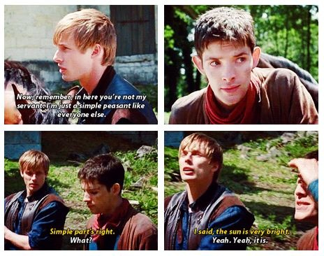 """""""You've got the simple part right."""" """"What?"""" """"I said, the sun is very bright."""" """"Yeah. Yeah, it is..."""""""
