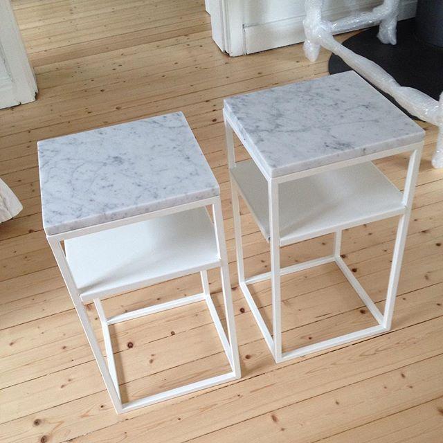 Två sängbord klara att hämtas! #marmorbord #sängbord #satsbord #soffbord #inredning