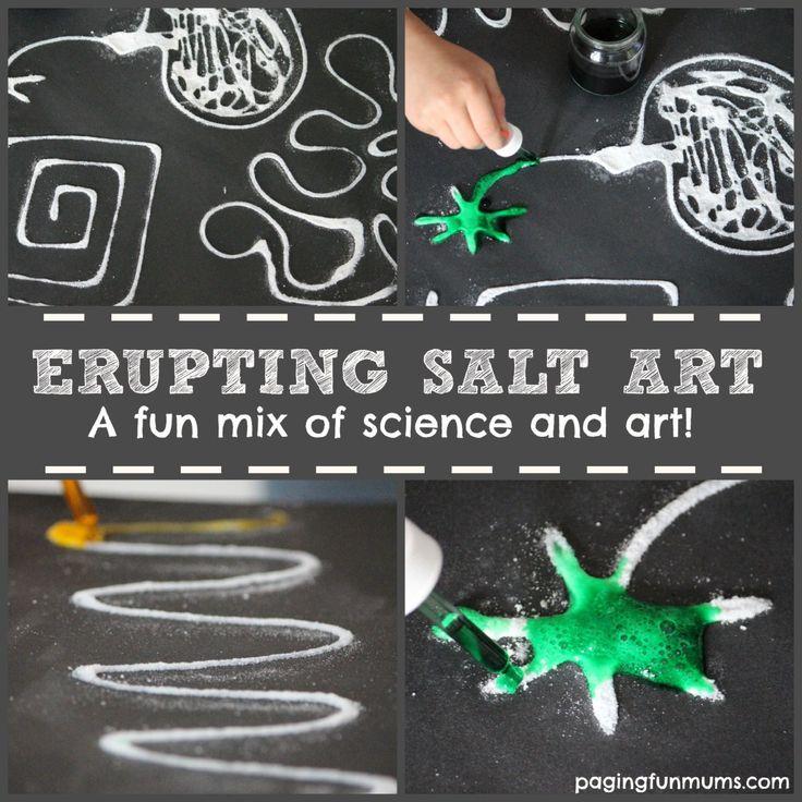 Erupting Salt Art - a FUN mix of science and art!