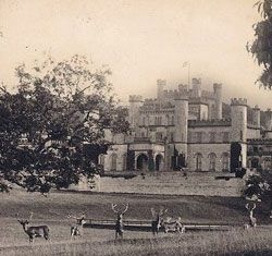 North facing view of Lowther Castle