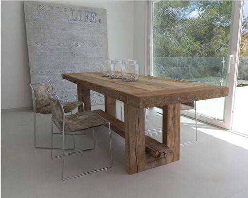 Mesas de madera maciza para el comedor decoratrix - Adornos de mesa de comedor ...
