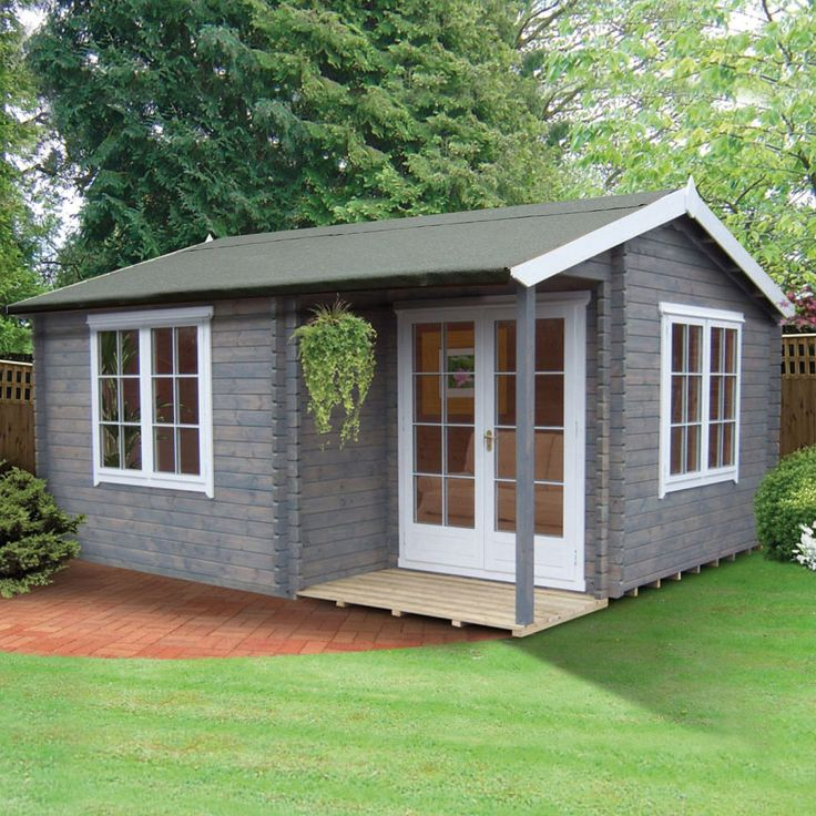 16X17 Twyford 44mm Tongue & Groove Timber Log Cabin with Assembly Service | Departments | DIY at B&Q