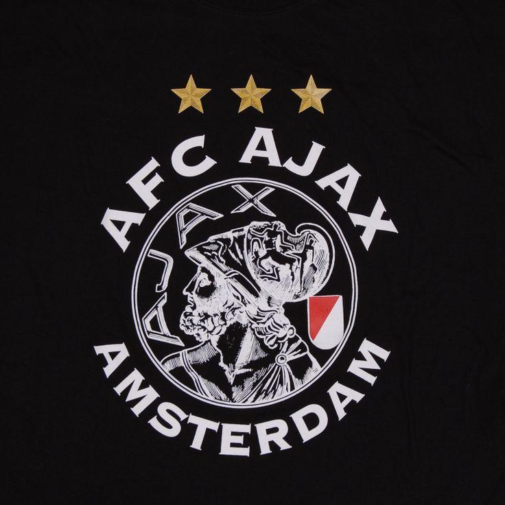 Ajaxtshirt old logo 3 Stars SR black Classic logo