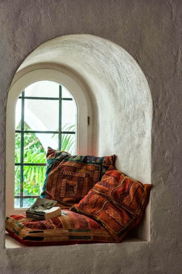 Cozy space. maybe make a bigger window with enough space to stretch out....good for sun bathing??