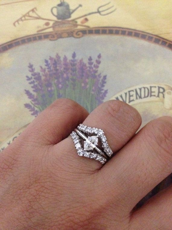 Sale 14K Marquise Solitaire Diamond Ring With Enhancer by AIZUUTO