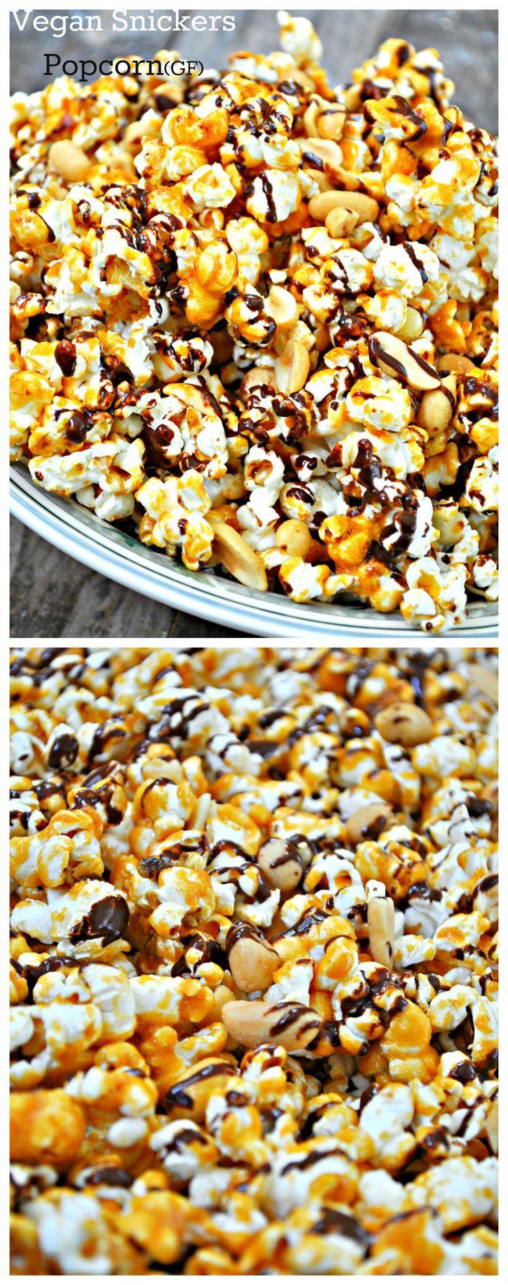 Vegan Snickers Popcorn