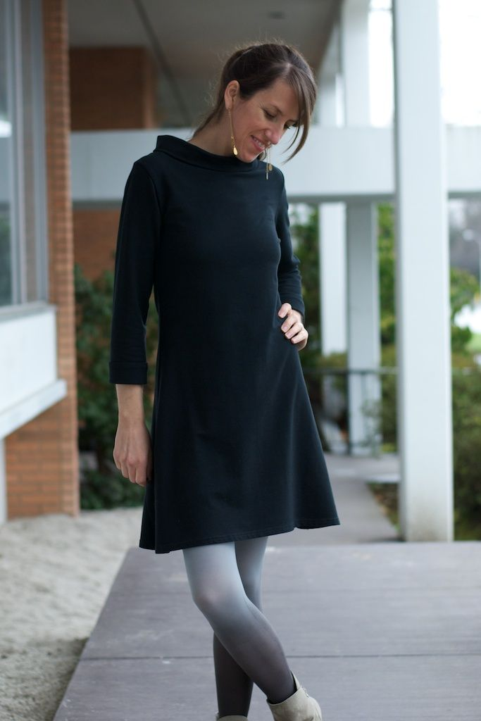 Coco, a Breton top or knit dress sewing pattern by Tilly and the Buttons