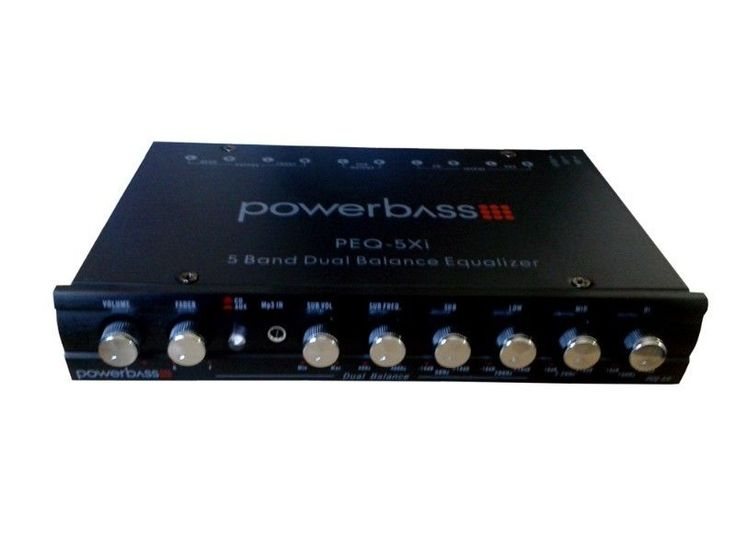 5 BAND DUAL BALANCE EQUALIZERPARAMETRIC EQUALIZER RANGE -  /- 18DBS/N RATIO - 80DB REF 1V INPUTFREQUENCY RESPONSE - 10HZ - 50 KHZ, -3DBMAXIMUM OUTPUT VOLTAGE - 7V RMST.H.D - 0.05%INPUT IMPEDANCE - 20K OHMSSTEREO SEPARATION - 80DB / 1 KHZSUBWOOFER FREQUENCY RANGE - 40HZ - 400HZOPERATION VOLTAGE - 11-15V DCR349 - Price valid until 25 October 2014Purchase online:https://www.soundmatch.co.za/products/product/2300/powerbass-peq-5xi-5-band-dual-balance-equalizer