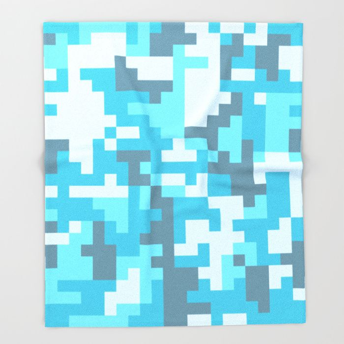 Turquoise Camo pattern Throw Blanket by PRODUCTPICS | Society6