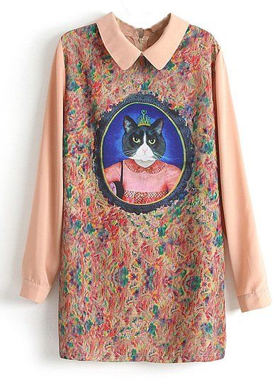 Magic moment dress with a royal kitty portrait #catlovers #unique #dress #cat #women #style #fashionable $19 www.purrfor.me
