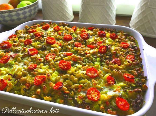 Pullantuoksuinen koti: Maukas Jauheliha-Kasvis Makaronilaatikko. Delicious minced meat veggie macaroni casserole