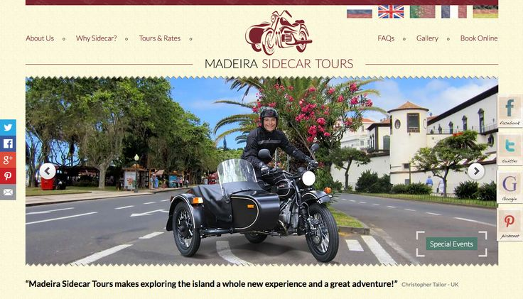 """Madeira Sidecar Tours"" was created to make your visit to Madeira even more unforgettable and enriching.   http://www.madeirasidecartours.com/"