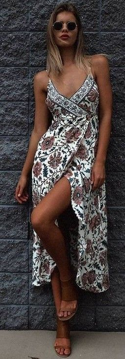 #summer #mishkahboutique #outfits | Floral Wrap Dress