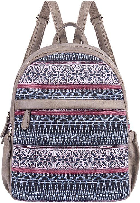 c352b63189418 Amazon.com: Cute Backpack for Women Canvas High School Daypack ...