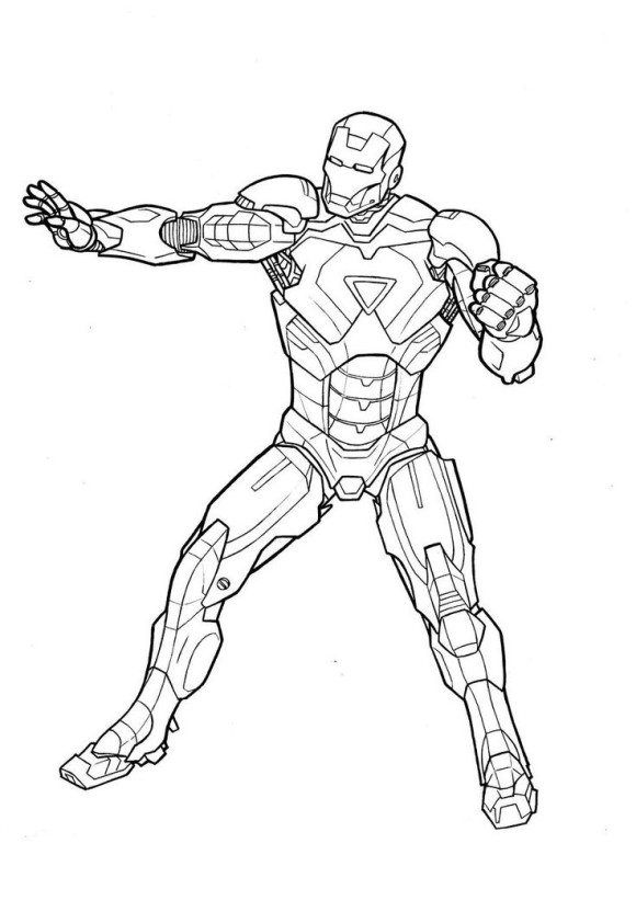 Super Heroes Coloring Iron Man Coloring Pages Free To Print