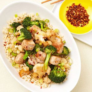 Ginger Pork and BroccoliBroccoli Recipe, Healthy Dinners, Easy Dinner, Healthy Dinner Recipes, 500 Calories Dinner, Easy Healthy Dinner, Gingers Pork, Weights Loss, 500 Calorie Dinners