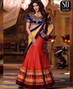 Bollywood Chitrangada Singh Lehenga Choli Orange