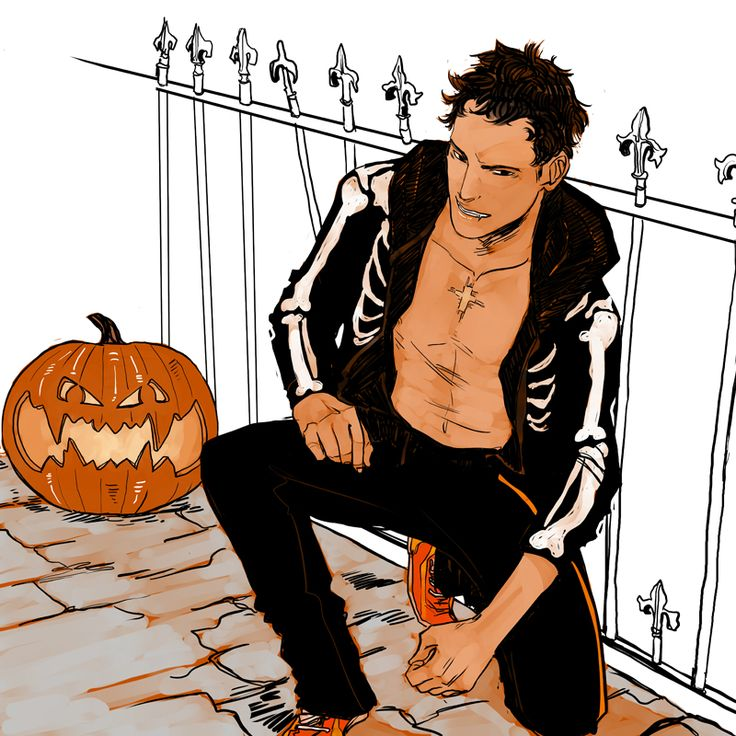 Raphael Santiago being appropriately vampy for October and Halloween, Men of the Shadowhunter Universe calendar by Cassandra Jean