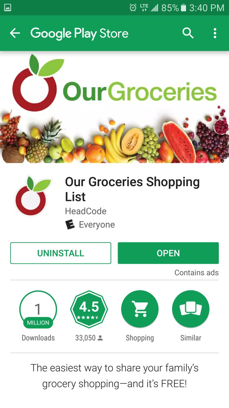 Our Groceries is the grocery list app made for families. It allow users to include photos of the products and even share lists between family members.