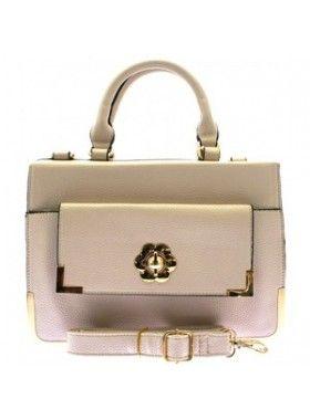 DV8 Beige Box Handbag. Buy @ http://thehubmarketplace.com/Beige-Box-Handbag