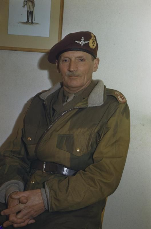 Portrait of Field Marshal Sir Bernard Montgomery on his appointment as Colonel Commandant of the Parachute Regiment.