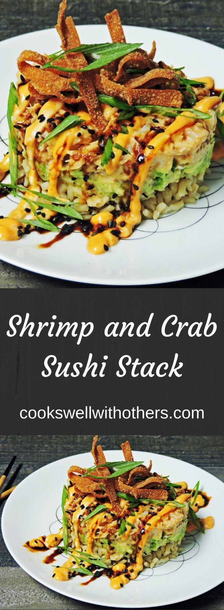 Shrimp and Crab Sushi Stack – #CRAB #Shrimp #Stack…