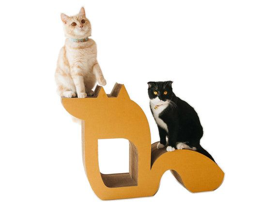 KAFBO Cat Scratching Furniture FOX shape L size by KAFBO on Etsy