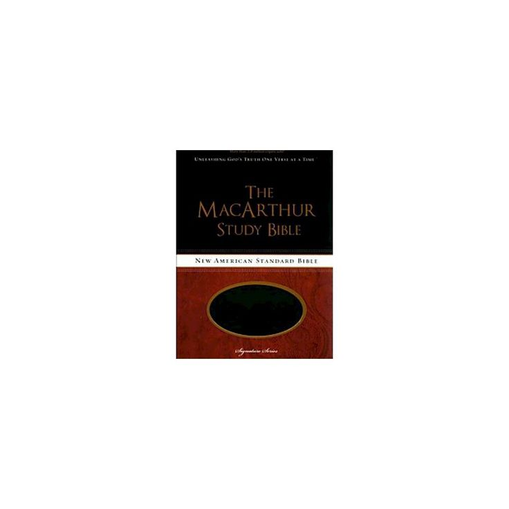 MacArthur Study Bible : New American Standard Bible, Raven, Leather-Look (Indexed) (Paperback)
