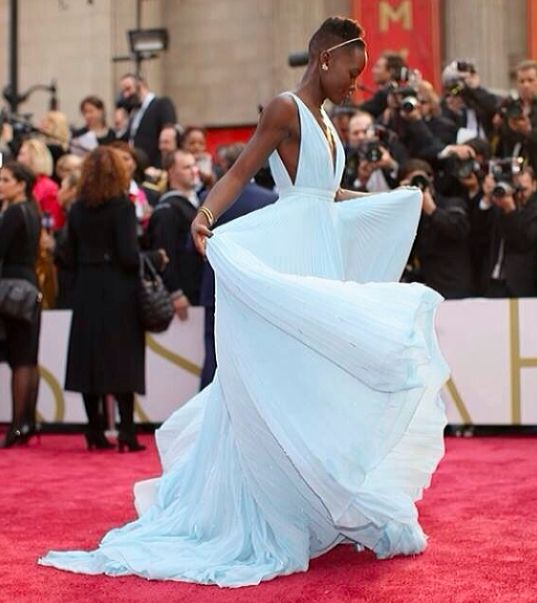 Lupita my best dressed pick by far.  She said the blue reminded her of Nairobi. Hence Nairobi Blue.