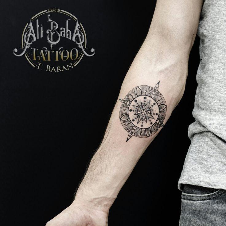 Bodrum tattoo bodrum dövme ali baba tattoo turan baran compass tattoo pusula dovmesi mandala tattoo piercing body art ink kol dovmesi arm tattoo dot work tattoo noktalama dovme