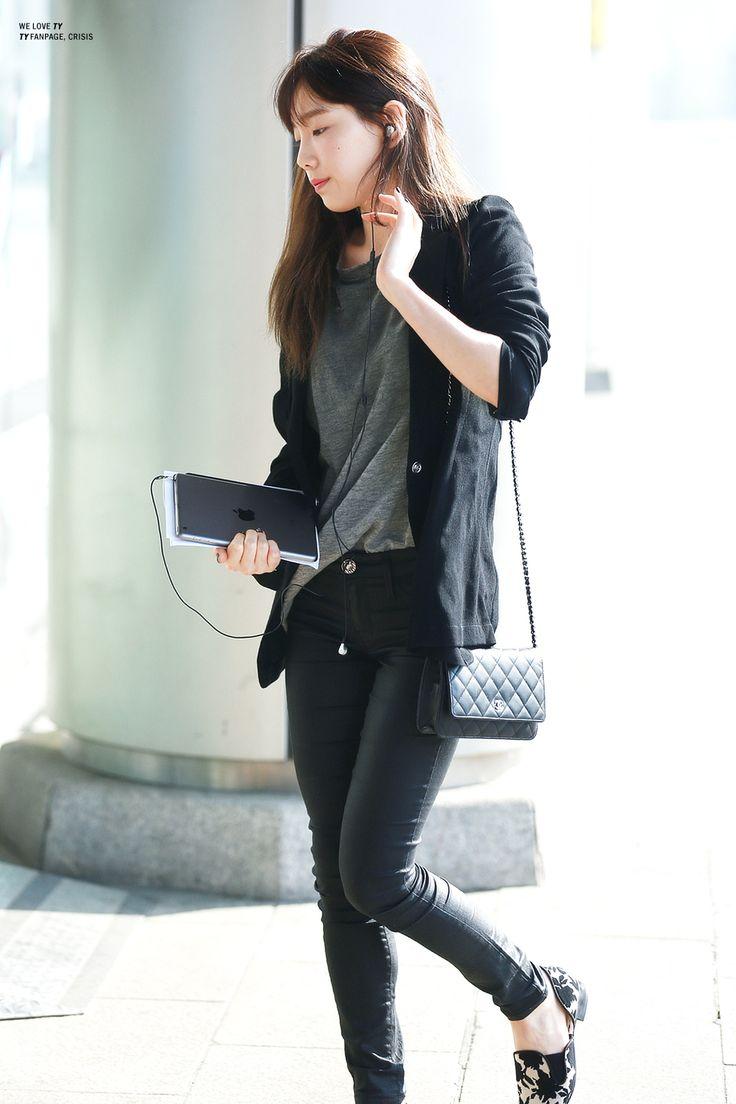 Taeyeon SNSD airport fashion may 2014