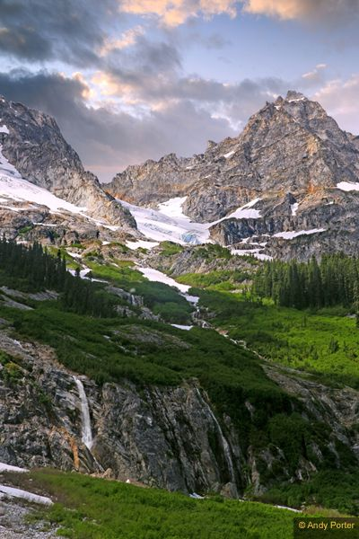 North Fork Meadows, North Cascades National Park: Goode Mountain Waterfalls @Erin Stockdill Backpackers