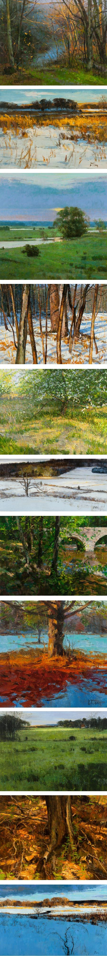 Peter Fiore is a landscape painter originally from New Jersey and now based in northeastern Pennsylvania.