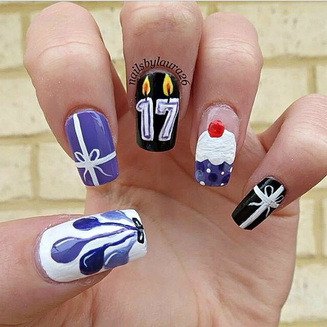 17 Birthday Nail Art - 42 Best My Nail Art Images On Pinterest Green, Pink White And Black