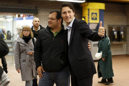 Liberal Leader Justin Trudeau, Canada's next prime minister, thanked supporters in his Montreal riding just hours after clinching a majority in Monday's election