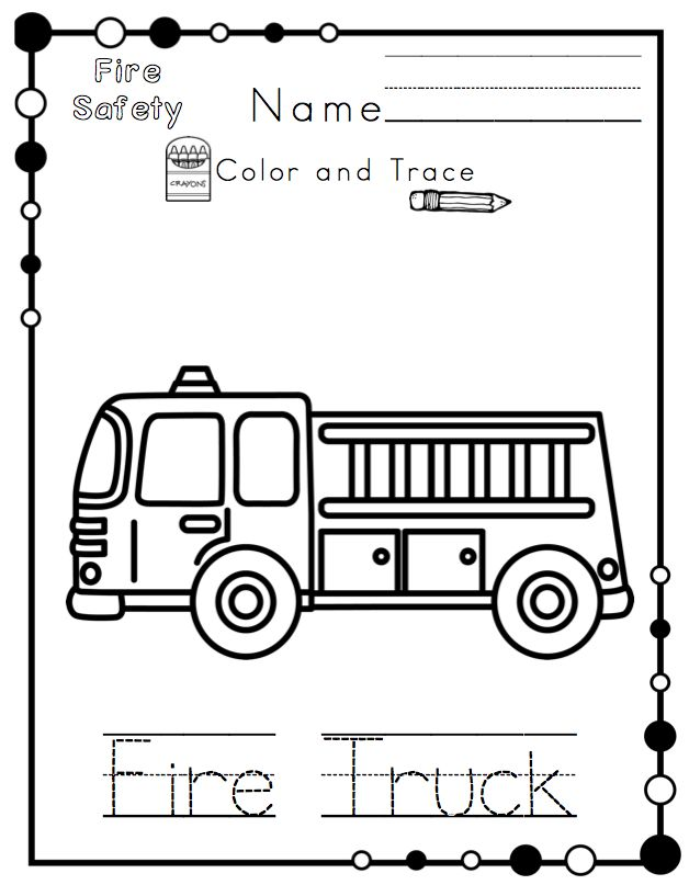 kindergarten safety coloring pages - photo#35