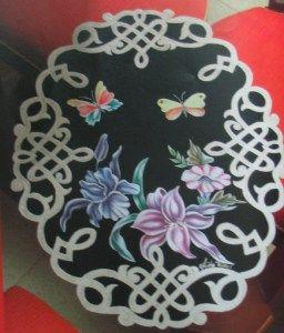 carpeta negra con mariposa 20 bs