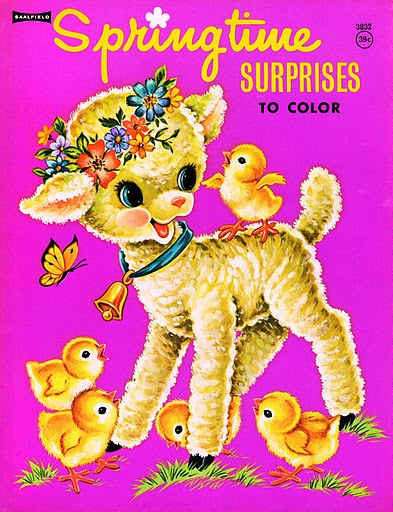 I have saved this coloring book since 1978; love old vintage simple pictures.  Click the page for the entire book digitized; as well as many others.
