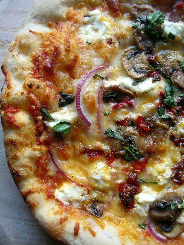 Vegetable Pizza with Goat Cheese. | pizza | Pinterest