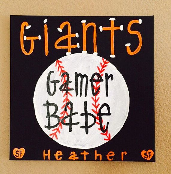 San Francisco Giants Gamer Babe canvas by ForTheLoveOfByHM81