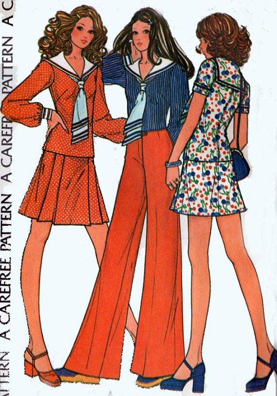 1970s sailor suit https://www.etsy.com/listing/189082040/retro-2-piece-dress-top-w-sailor-collar