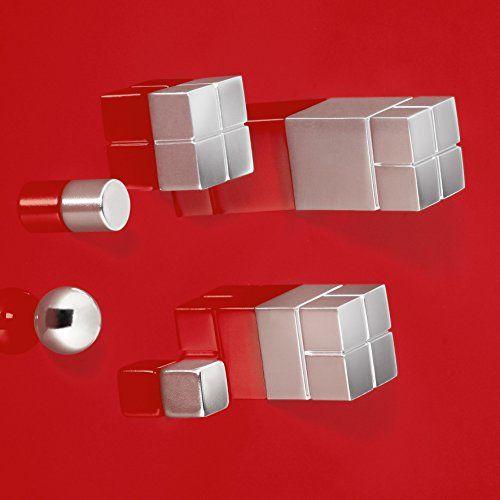 Sigel GL707 Lot de 2 aimants cubiques SuperDym C30 «Ultra-Strong» pour tableaux magnétiques et tableaux magnétiques en verre, 2 x 3 x 2 cm,…