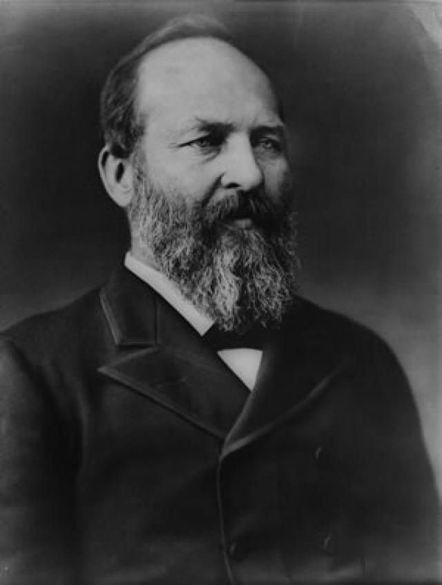 James Garfield, Twentieth President of the United States - Credit: Library of Congress, Prints and Photographs Division, LC-BH82601-1484-B DLC