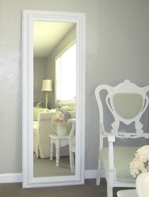 Large Dining Room Mirror For Sale 56x 32 BAROQUE DECORATIVE MIRROR Long Vintage Style French Country Framed Shabby Chic Home